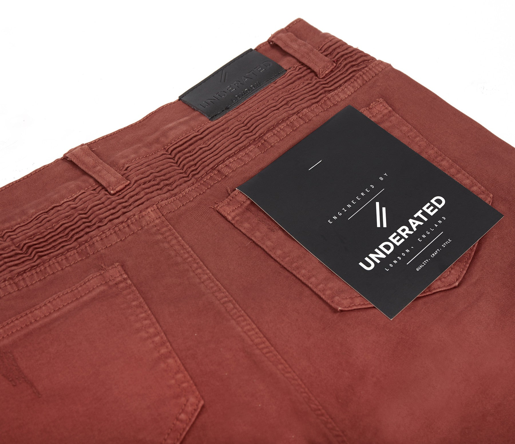 JN152 Distressed Biker Denim - Rust - underated london - underatedco - 10