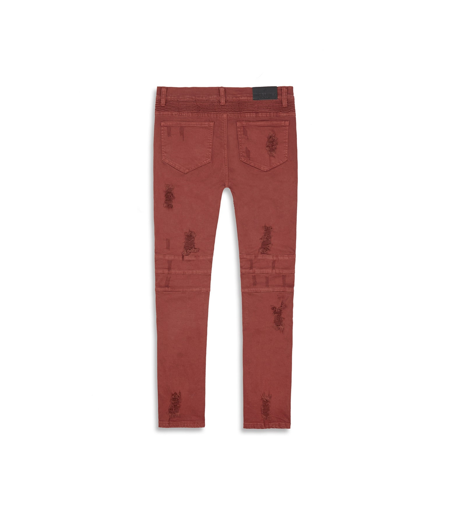 JN152 Distressed Biker Denim - Rust - underated london - underatedco - 11