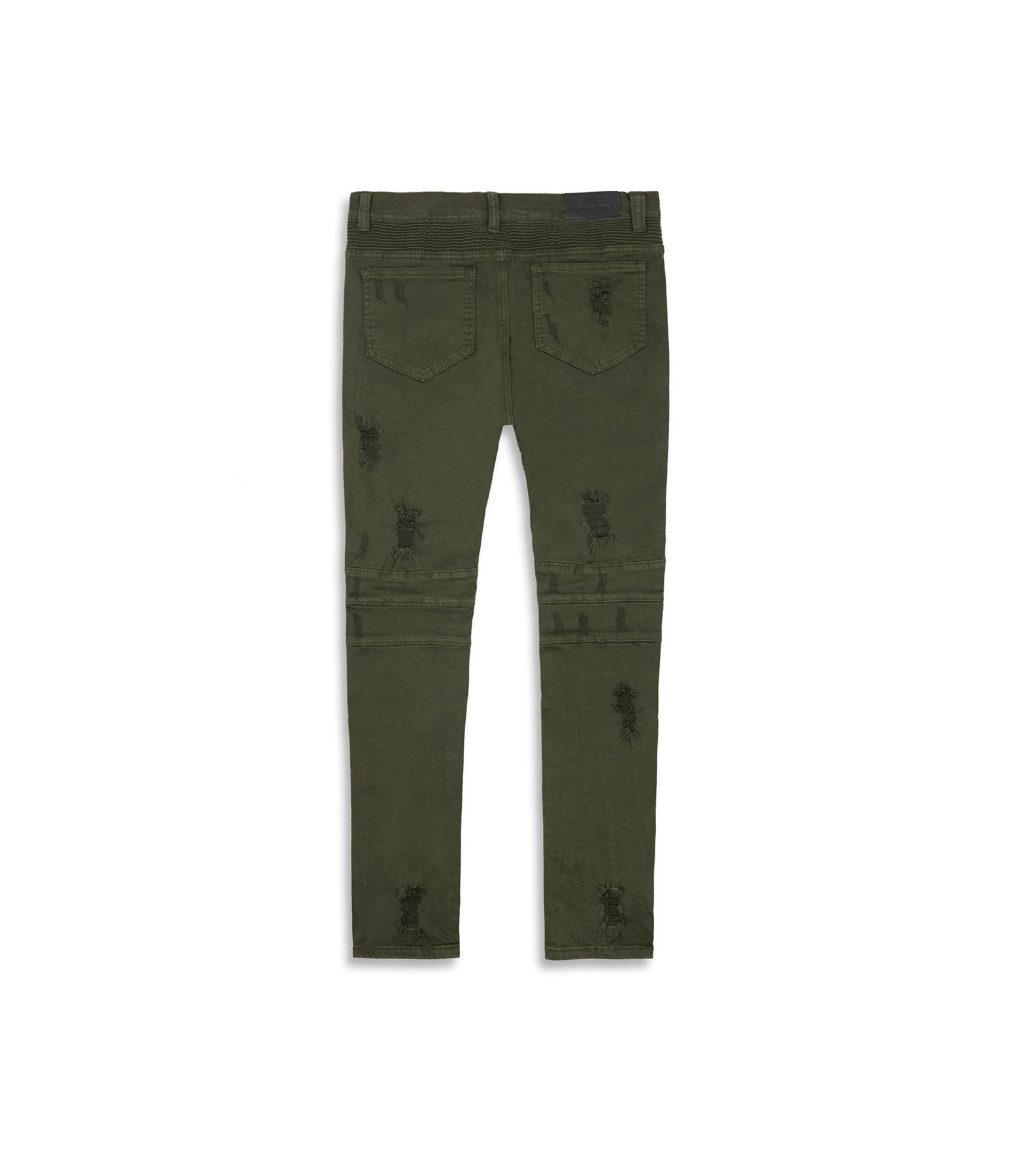 JN152 Distressed Biker Denim - Khaki - underated london - underatedco - 11