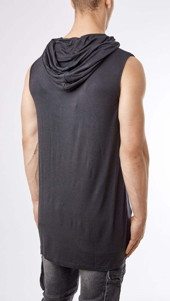 D12 Under Armour Hooded Muscle Tee - Black - UNDERATED