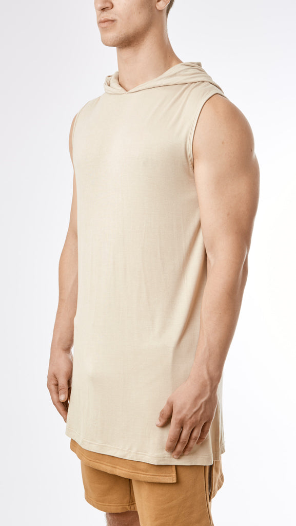D12 Under Armour Hooded Muscle Tee - Sand - UNDERATED