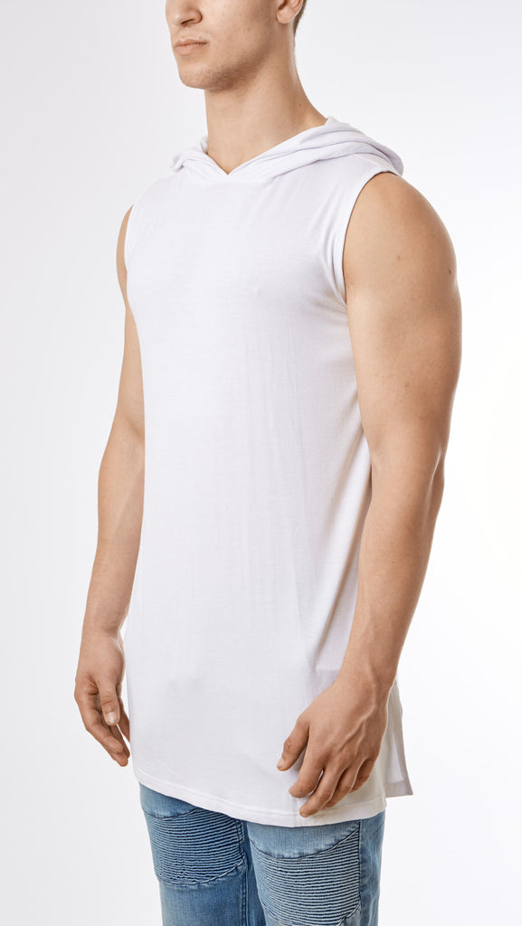 D12 Under Armour Hooded Muscle Tee - White - UNDERATED