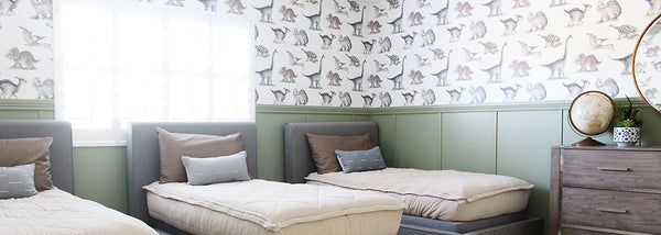 3 Boys Room Decor Idea | Dinosaur Wallpaper, Paint, & Decor!