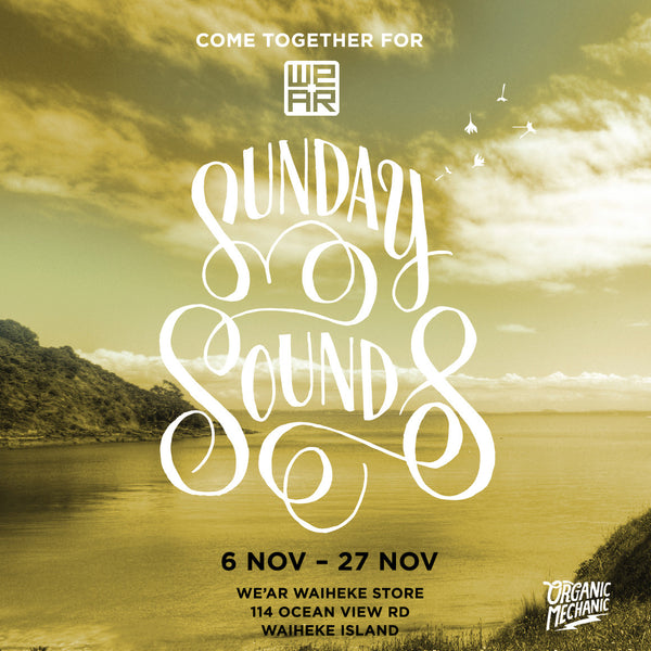 Live Music in store! Sunday Sounds at WE'AR Waiheke in November