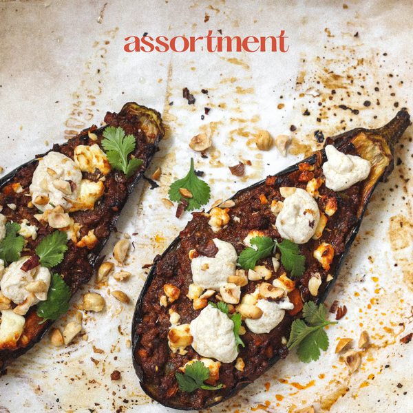 Middle Eastern Inspired Stuffed Eggplant