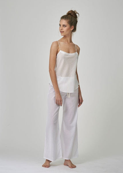 white pj pants women