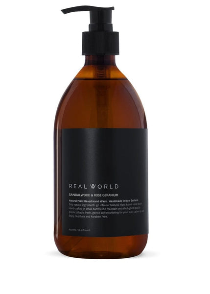 Real World Hand Wash - Sandalwood & Rose Geranium