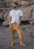 drop-crotch all-cotton pant men