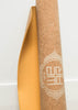 travel yoga mat lightweight cork and rubber