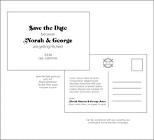 Load image into Gallery viewer, Save the Date - all designs