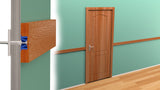 Star Hanger rendering of Star Zero & a Star Mounting Bolt used to install wood moulding and trim directly onto sheetrock. The moulding installs by snapping directly into place with no drop down space required, zero reveal.