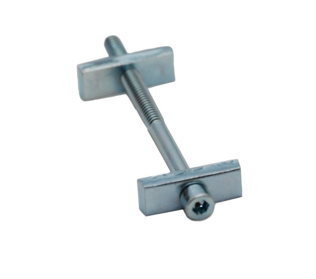 Star Hanger Countertop Bolt, SKU 321, used as an alternative for tite-joint fastener countertop draw bolts.