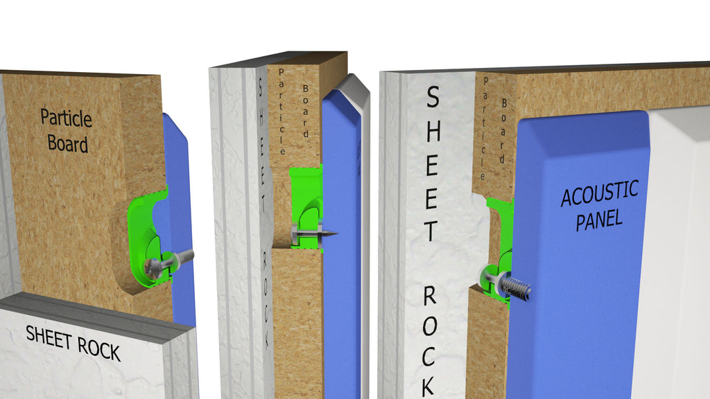 Star Hanger, Green Glide, Rendering Of Wood Panel Mounted To Acoustical  Panel On Furring