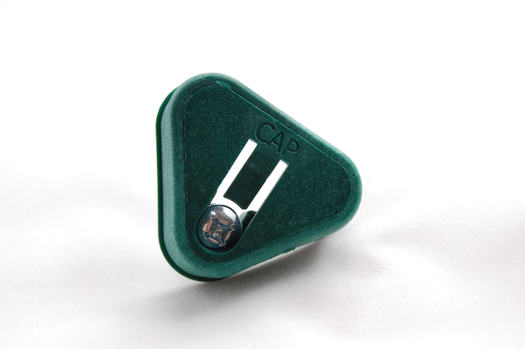 315 Green Glide Triangle Lock Caps (100 Locks)