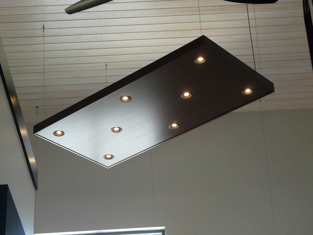 ceiling cloud hanger mounting plate, for hanging panels to 1/8 cables