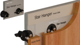 "Star 1-3/8"" Hanger, drawing of mounting heavy panels directly to drywall"