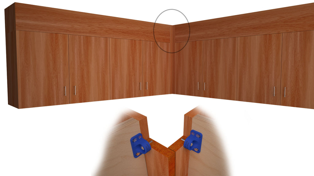 Rendering Of The The Zero Side Mount Rendering Used To Install Removable  Cabinet Soffit Panel Firmly