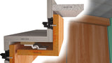 "Star Hanger Ceiling Clip and Star 1-3/8"" Hanger for installing a wood soffit."