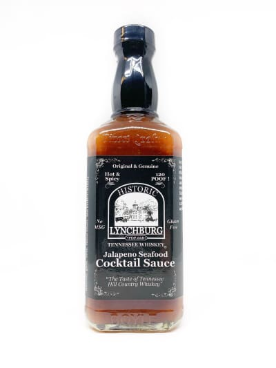 Historic Lynchburg Tennessee Whiskey Jalapeno Cocktail Sauce - BBQ Sauce - chillychiles.com