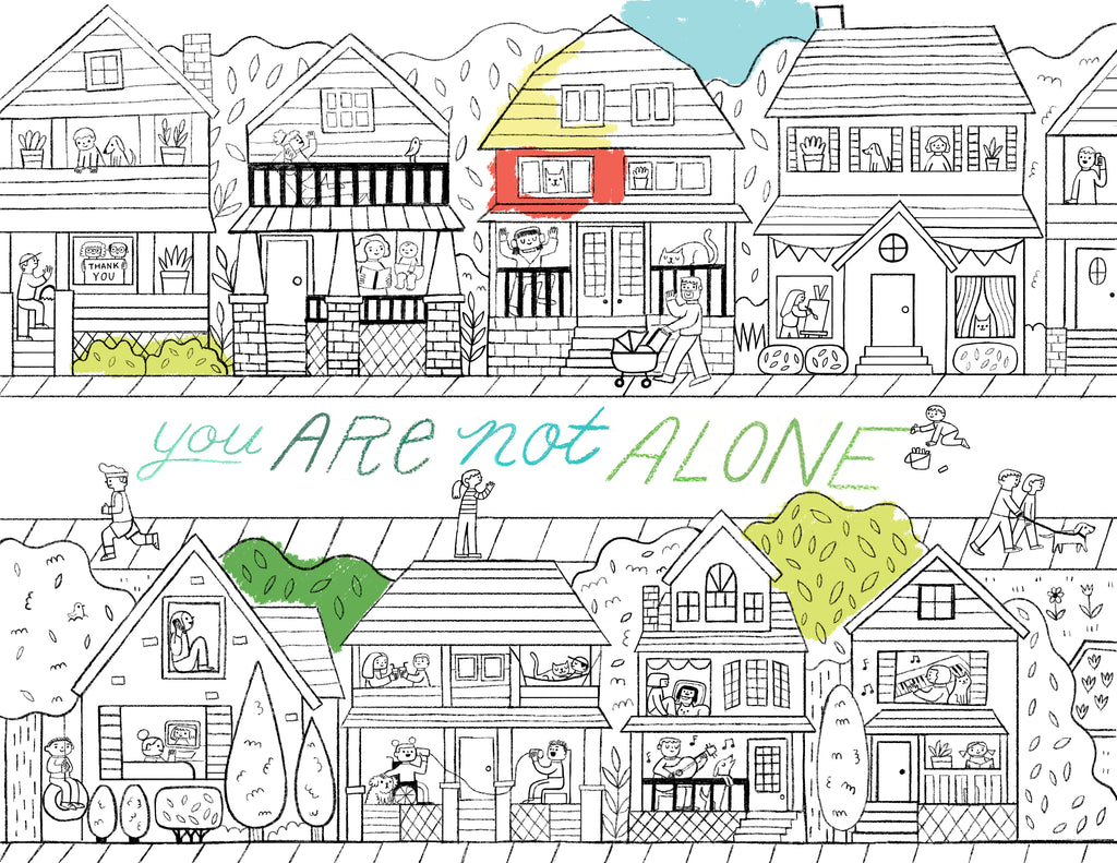 Stay At Home Coloring Page