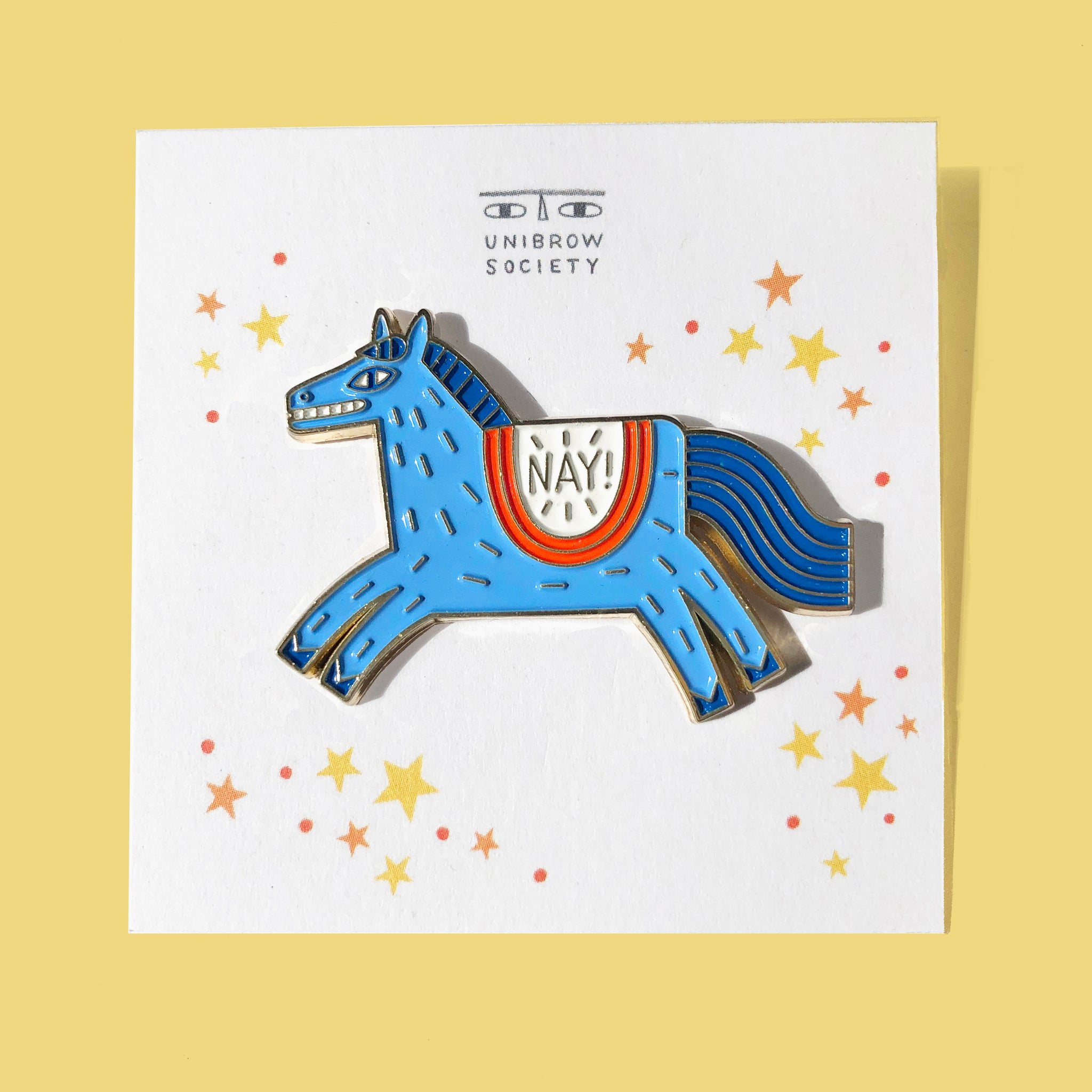 Nay! Enamel Pin