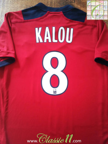 2012/13 Lille Home Ligue 1 Football Shirt Kalou #8 (M)
