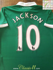 2011/12 Norwich City Away Premier League Football Shirt Jackson #10 (M)