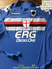 2005/06 Sampdoria Home Football Shirt (XXL)