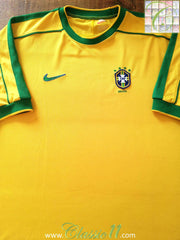 1998/99 Brazil Home Football Shirt (S)