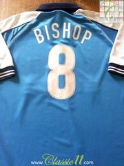 1999/00 Man City Home First Division Football Shirt Bishop #8 (L)