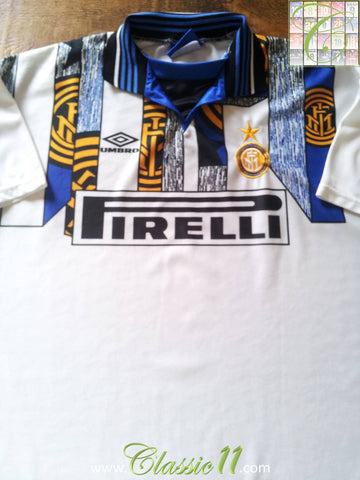 1995/96 Internazionale 3rd Kit Football Shirt (L)