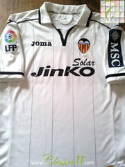 2012/1 Valencia Home La Liga Football Shirt (L)