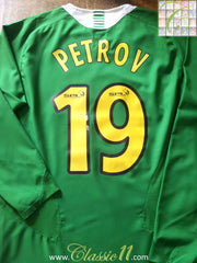 2005/06 Celtic Away SPL Football Shirt Petrov #19. (S)