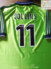1999/00 Fulham Away Football Shirt Collins #11 (XL)
