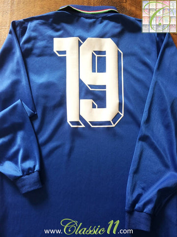 1990 Italy Home World Cup Football Shirt Schillaci #19. (M)