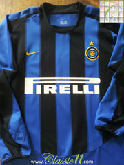 2003/04 Internazionale Home Football Shirt (M)