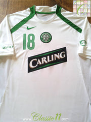 2006/07 Celtic Football Training Shirt Lennon #18 (L)