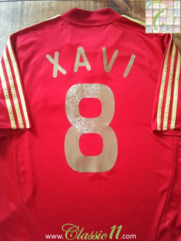 2007/08 Spain Home Football Shirt Xavi #8 (L)