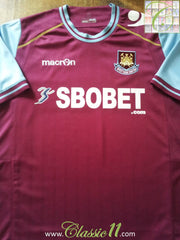 2011/12 West Ham Home Football Shirt (L)