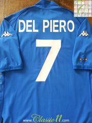 2002/03 Italy Home Football Shirt Del Piero #7 (XXXL)