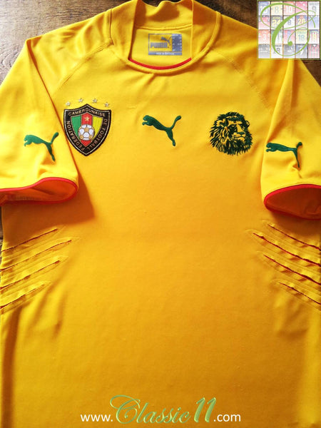 bc4c4f078 2004 05 Cameroon Away Football Shirt   Vintage Lion Claw Soccer ...