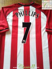 2003/04 Southampton Home Football Shirt Phillips #7 (L)