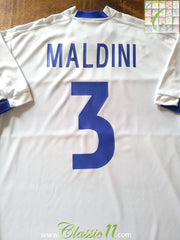 1999/00 Italy Away Shirt Maldini #3 (XL)