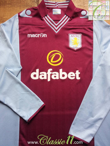 2013/14 Aston Villa Home Football Shirt (XL)