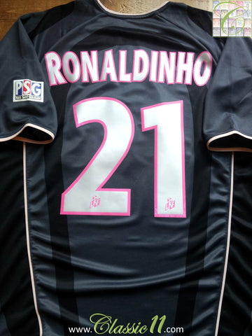 2001/02 Paris St.Germain 3rd Shirt Ronaldinho #21 (L)