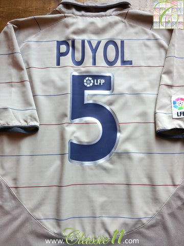 2003/04 Barcelona Away La Liga Shirt Puyol #5 (XL)