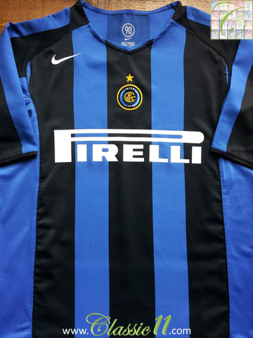 2004/05 Internazionale Home Football Shirt (XL)