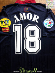 1996/97 Spain European Championship Away Shirt Amor #18 (L)