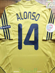 2008/09 Spain Away European Championship Shirt Alonso #14 (L)