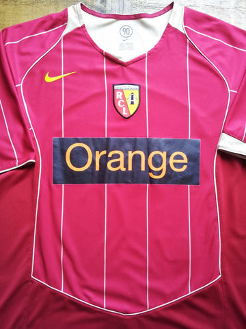 2005/06 RC Lens Home Shirt (L)